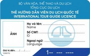 Mẫu thẻ Hướng dẫn viên quốc tế
