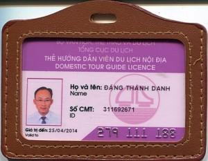 Mẫu thẻ hướng dẫn viên nội bộ