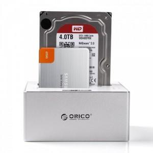 Docking Orico 6828us3-C vỏ nhôm, hỗ trợ ổ cứng 6TB, USB 3.0