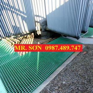 Tấm sàn ô lưới ( frp grating ), Sàn Lót Chống Trượt Trong Nhà Máy