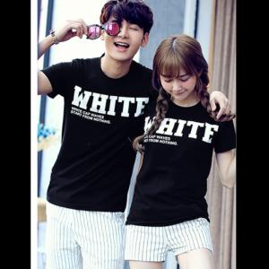 Áo thun cặp White