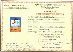 Địa chỉ học kế toán trưởng doanh nghiệp của Bộ Tài Chính