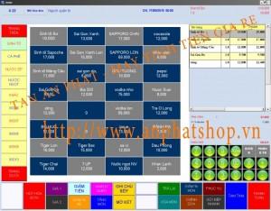 Máy bán hàng tính tiền cảm ứng cho quán cafe tại Tiền Giang