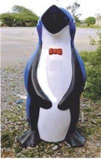 Bán thùng rác cá heo, chim cánh cụt nhựa composite