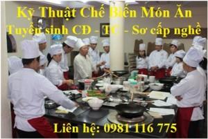 Tuyển sinh ngành kỹ thuật chế biến món ăn - Trường CĐ Văn Lang