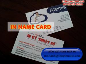 In name card cán mờ hai mặt
