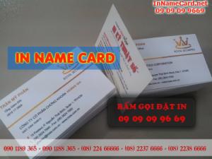 In name card cấn theo đường viền