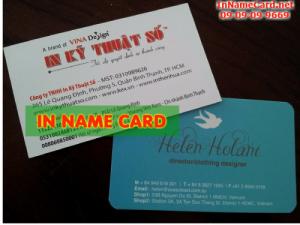 In name card giá rẻ tại Thủ Đức