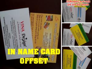 In name card offset số lượng lớn, nhanh chóng, uy tín