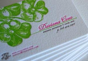 In card visit dập nổi chữ và số chất lượng