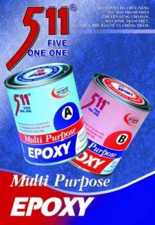 Epoxy 511, keo khoan cấy thép chờ, chống thấm, sửa chữa bê tông