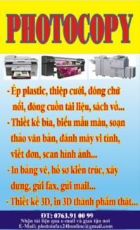 Photocopy - In - Fax Online Tại An Giang