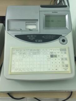 Máy tính tiền casio TE 2400 cho quán ăn, quán cafe, trà sữa