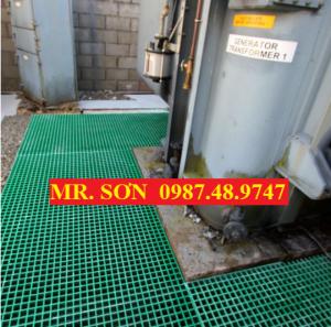 Sàn lưới sợi thủy tinh, tấm đậy mương thoát nước (GRATING)