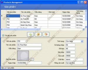 Phần mềm quản lý cho shop thời trang