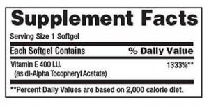 Viên uống vitamin E 400 i.u của Mỹ
