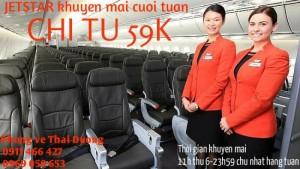 Jetstar khuyến mãi cuối tuần 59 000
