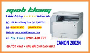 Máy Photocopy Canon iR 2002N tốc độ in 20 trang/phút, copy,in,scan qua mạng