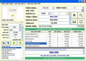 Phần mềm thường - Phần mềm cảm ứng dùng cho tạp hóa, siêu thị mini
