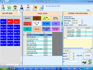 Phần mềm bán hàng cảm ứng cho nhà hàng - Cafe