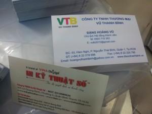 Chuyên in name card giá rẻ - đẹp tại TP. HCM
