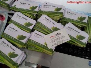 In name card giá rẻ trên giấy art