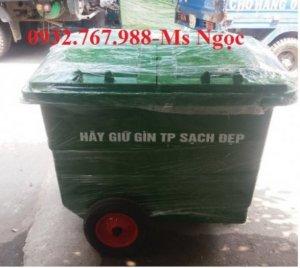 Xe đẩy rác 1000 lít, xe đẩy rác 4 bánh xe, thùng rác công cộng 4 bánh