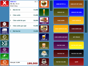 Máy bán hàng - Phần mềm quản lý quán nhậu tại Tiền Giang, Long An, Đồng Tháp, An Giang