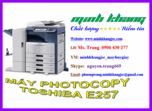 Máy photocopy Toshiba E-Studio 257, photo chuyên nghiệp. BH 24 tháng