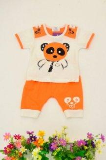 Bộ bé trai Panda cam