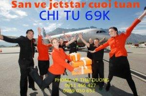Jetstar khuyến mãi vé 69000 cho cả hành trình đi và về