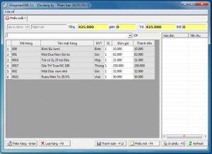 Phần mềm bán hàng cho Siêu Thị Mini