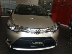 Cần bán xe Toyota Vios 1.5G, số tự động, màu Nâu vàng, giao ngay, khuyến mãi 50 triệu PK