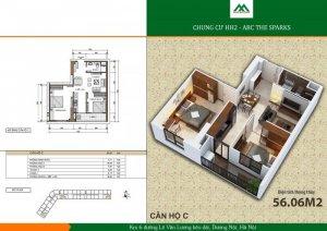 Dịch vụ Thiết kế và báo giá các căn hộ C chung cư Xuân Mai Spark Tower