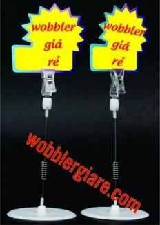 Wobbler nhựa để bàn sang trọng, tái sử dụng nhiều lần nhờ có mỏ kẹp phía trên chắc chắn.wobbler là gì? kẹp quảng cáo, kẹp lò xo, lò xo quảng cáo,pop quảng cáo, wobbler quảng cáo, in wobbler, thiết kế wobbler, mẫu wobbler, kẹp nhựa, kẹp quảng cáo, kẹp lò xo...