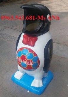 thùng rác hình chim cánh cụt