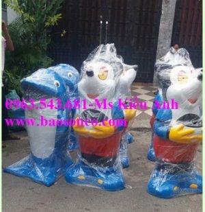 thùng rác hình chuột mickye