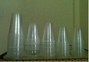 Cốc nhựa đóng bắp rang bơ, cốc nhựa PP có vân 700ml và cốc nhựa PP khô