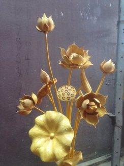 Bán hoa sen gỗ đẹp, hoa sen gỗ mít, hoa sen gỗ pơ mu