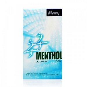 Bao Cao Su Jex UsuUsu Menthol - Mát Lạnh Sảng Khoái Hộp 12 BCS
