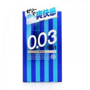 Bao Cao Su Jex INVI 003 Cool - Mát Lạnh Hộp 8 BCS