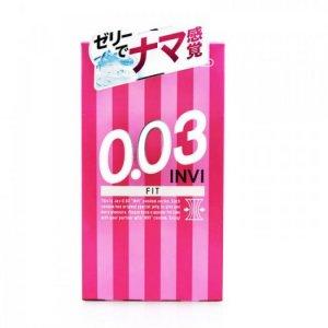 Bao Cao Su Jex INVI 003 FIT - Cực Siêu Mỏng & Ôm Khít Hộp 8 BCS