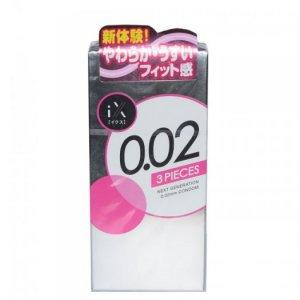 Bao Cao Su Jex Condom 0.02mm Hộp 3 BCS