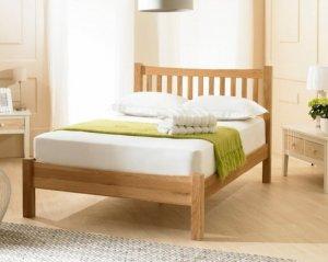giường ngủ gỗ sồi tự nhiên - hàng xuất khẩu tại sài gòn