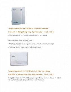 Tổng đài điện thoại Panasonic, máy fax, bộ đàm, linh kiện điện tử viễn thông.