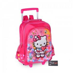 Balo kéo học sinh màu hồng  ATCBLK0715001