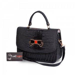 Túi xách nơ hộp nhỏ WNTXV0815002 màu đen