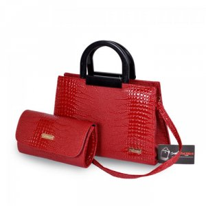 Túi xách bộ đôi quai nhựa WNTXV0815001 màu đỏ