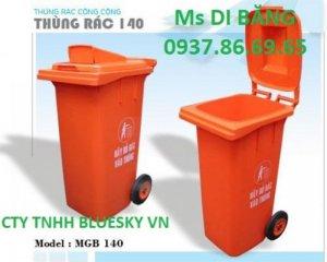 Thùng rác , thùng rác công cộng , xe thu gom rác thải, thùng rác banh bánh xe 660l giá tốt