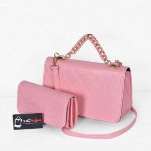 Túi xách bộ đôi nhỏ WNTXV0415023 màu hồng nhạt